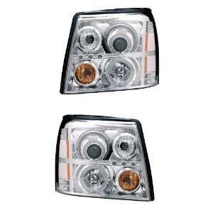 CADILLAC ESCALADE ESV 03 06 PROJECTOR HEADLIGHT HALO CHROME CLEAR