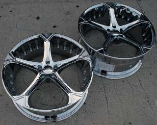 GIOVANNA DALAR 5V 20 CHROME RIMS WHEELS G35 STAGGERED