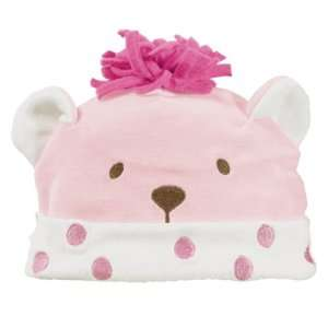 Grasslands Road Dot, Dot, Dot Pink Bear Baby Hat