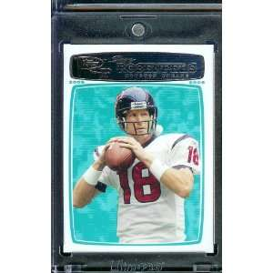 Sage Rosenfels   Houston Texans   NFL Football Trading Cards Sports