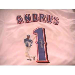 ELVIS ANDRUS SIGNED AUTOGRAPHED JERSEY TEXAS RANGERS COA