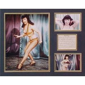 Bettie Page Picture Plaque Framed