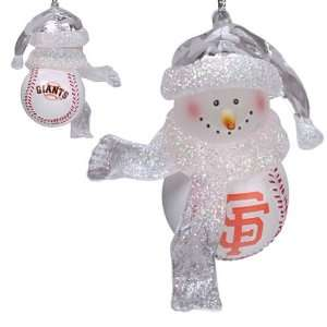 BSS   San Francisco Giants MLB Home Run Snowman Ornament