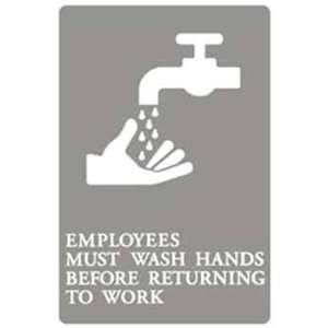 Employees Must Wash Hands ADA Signs Case Pack 3 Arts