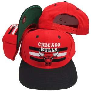 Chicago Bulls Red/Black Two Tone Snapback Adjustable