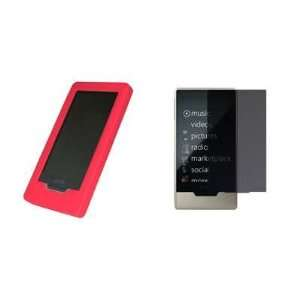 Premium Red Soft Silicone Gel Skin Cover Case + Privacy LCD