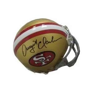 Dwight Clark Autographed San Francisco 49ers Replica Mini Football