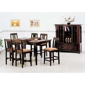 Yuan Tai Wesley 7 Pc Pub Set Pub Table, 6 Pub Chairs