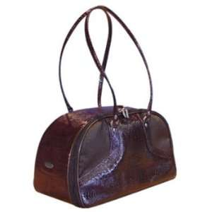 PeTOTe Bali Brown Snakeskin Pet Carrier  Size SMALL Pet