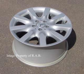Mercedes S550 18 factory alloy wheel rim (one) 65465