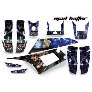 AMR Racing Yamaha Warrior 350 ATV Quad Graphic Kit  Madhatter Blue