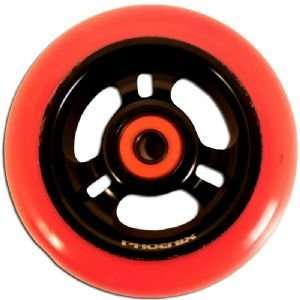 Phoenix 3 Spoke Wheel Red Black 100mm
