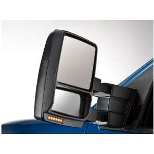 Trailer Tow Mirror Power, Heat/Puddle/Turn Signal, Black, Passenger