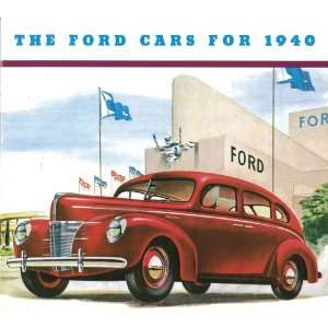 1940 FORD Sales Brochure Literature Book Piece Automotive