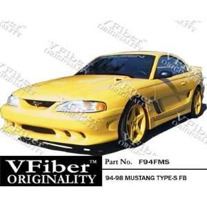 Ford Mustang 94 98 2dr VFiber FRP Type S 1pc Front Bumper