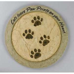 Cats Leave Paw Prints Stepping Stone Patio, Lawn & Garden