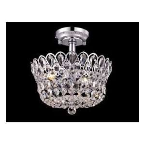 Dale Tiffany Mckinney Semi Flush Mount in Polished Chrome