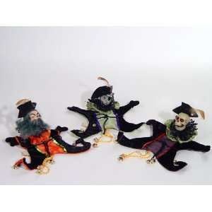 SKELETON PIRATES Halloween Candy Bag Ornaments Set of 3