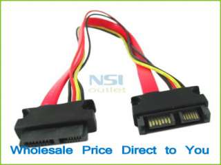 New Slimline SATA 13pin (7+6pin) Male to Female Extension Power Combo