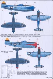 Kits World Decals 1/72 P 47D THUNDERBOLT 368th Fighter Group