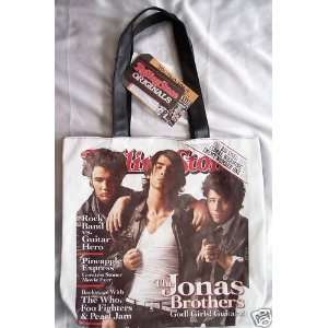 Rolling Stone magazine cover tote bag purse   Jonas