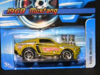 2006 HOT WHEELS 1968 FORD MUSTANG #128 GREEN MINT ON CARD