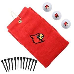 NCAA Louisville Cardinals Red Embroidered Golf Towel Gift
