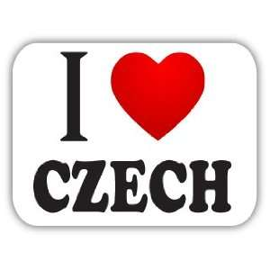 I Love CZECH Car Bumper Sticker Decal 5 X 4 Everything