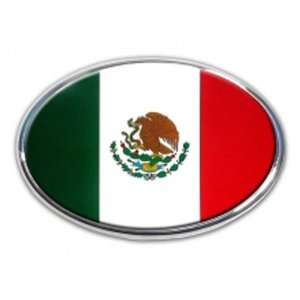 Mexico Mexican Counry Flag Chrome Auto Emblem Automotive