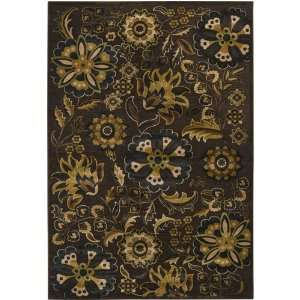 Surya Basilica Dark Brown Gold Flowers Leaves Contemporary