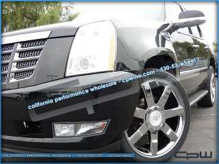 FOUR CADILLAC ESCALADE OEM STYLE 24 PLATINUM 24 WHEELS RIMS ESV EXT