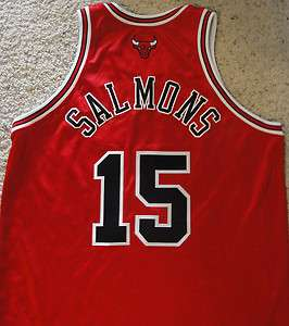2009/10 JOHN SALMONS Chicago Bulls Game Worn Noche Latina Jersey