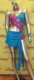 LATIN SALSA(BALLROOM) COMPETITION DRESS SIZE M (LT188B)