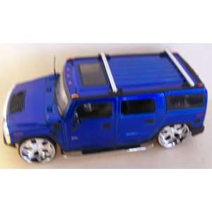 Scale Diecast Big Time Kustoms Hummer H2 in Color Blue Toys & Games