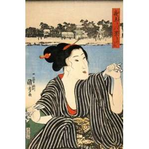 Fridge Magnet Japanese Art Utagawa Kuniyoshi Women 4