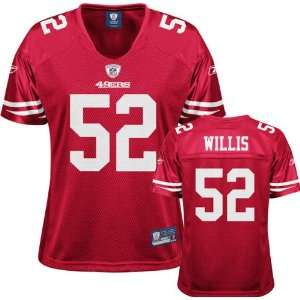 49ers Patrick Willis Womens Replica Jersey