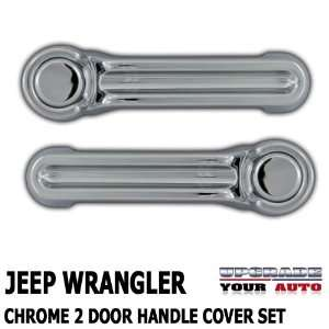 2007 2012 Jeep Wrangler 2 door Chrome Handle Cover Set