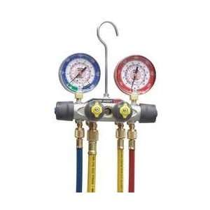 Manifold Gauge And Hose Set,4 Valve   YELLOW JACKET Automotive