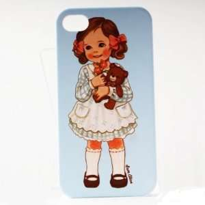 Skyblue Bear Painting Vintage Pinup Girl iPhone 4/4S