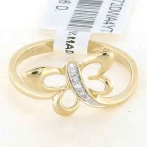 Yellow Gold Diamond Ring Diamond quality AA (I1 I2 clarity, G I color