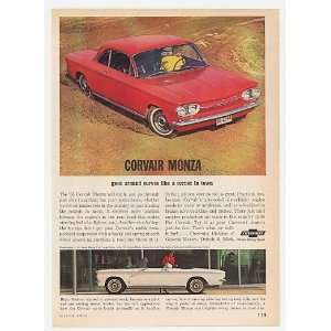 1963 Chevy Corvair Monza Club Coupe & Convertible Print Ad