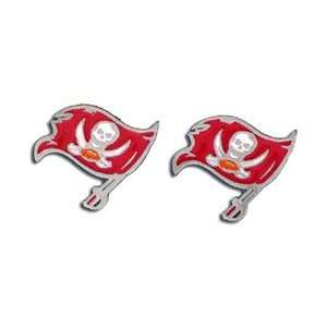 Studded NFL Earrings   Tampa Bay Buccaneers