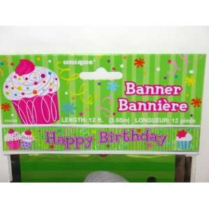 Cupcake Party Foil Banner Toys & Games