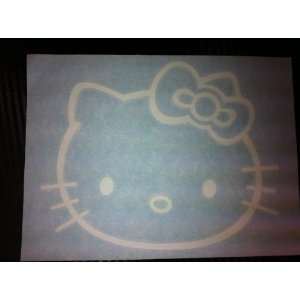 1 X Hello Kitty Racing Car Decal Sticker (New) White