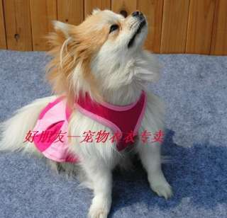 NEW Lovely Pet Dog Clothes Tank T Shirt Dress / XS S M