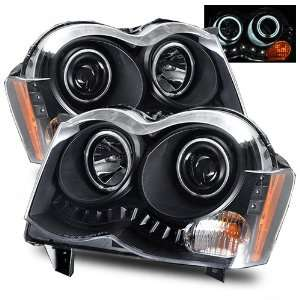 08 09 Jeep Grand Cherokee Black CCFL Halo Projector Headlights /w