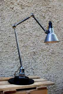 FRENCH Machine age Industrial factory desk lamp MAZDA