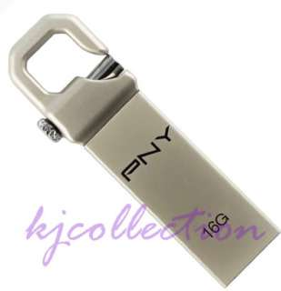 PNY 16G 16GB USB Flash Drive KeyChain Lock Attache HOOK