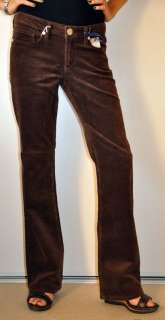 BCBG MAX AZRIA JEAN CLAIRE BOOT CUT 5 POCKET CORDUROY PANTS BROWN NWT