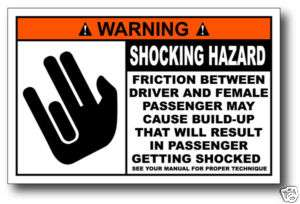 The Shocker Very Funny Warning Sticker Decal Gag Gift
